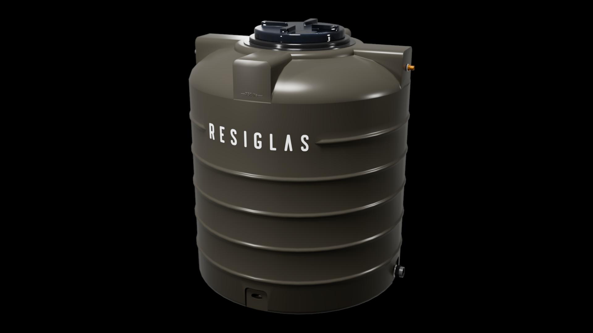 khaki shadow resiglas polychrome water tank