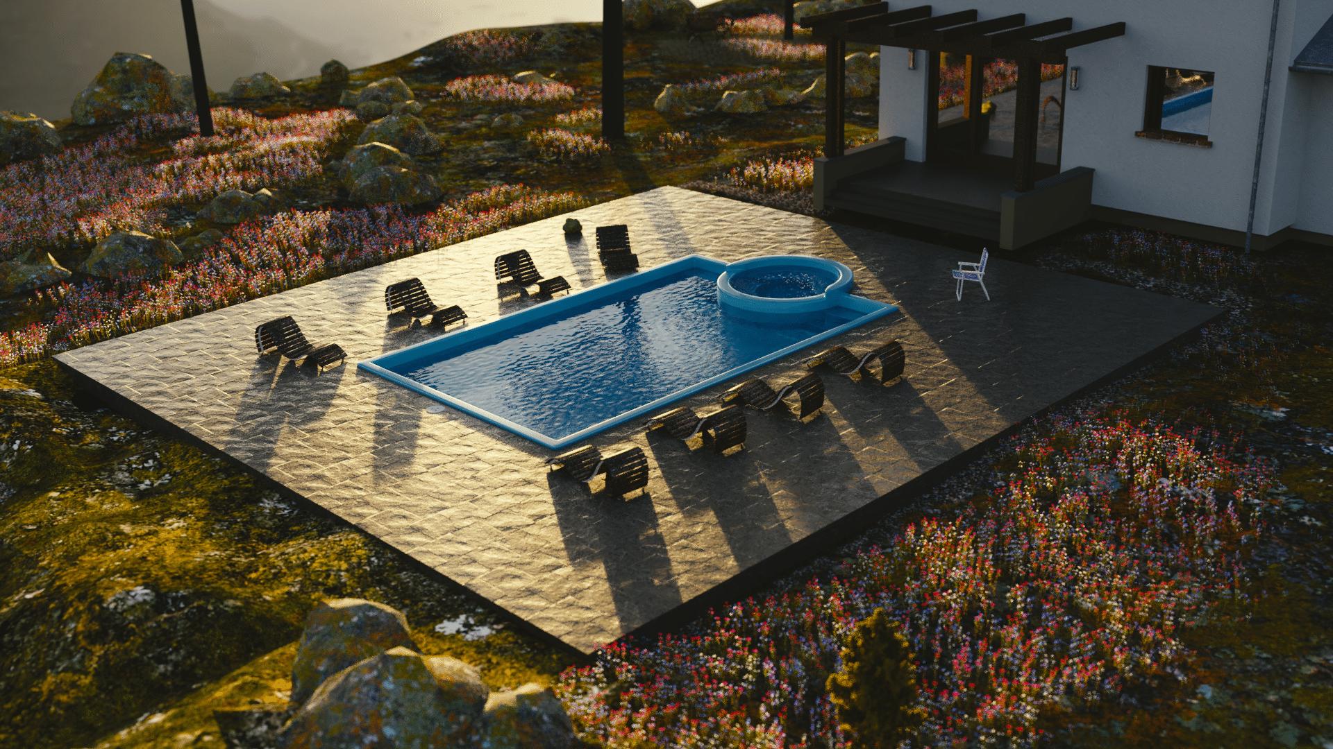 bubbles pool resiglas