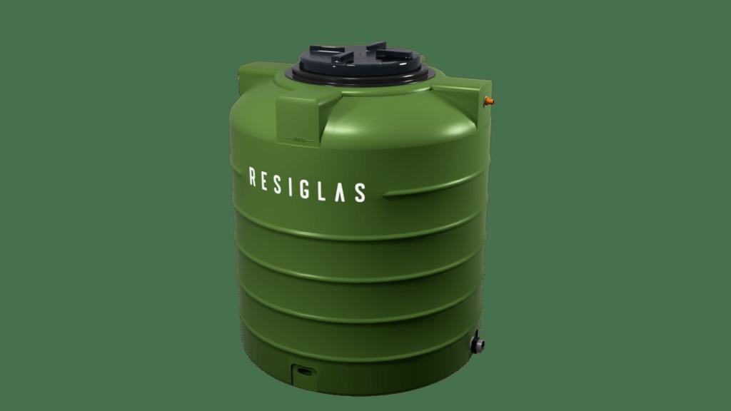 olive green resiglas polychrome water tank